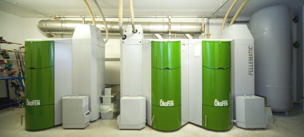 okofen commercial pellet boiler installation